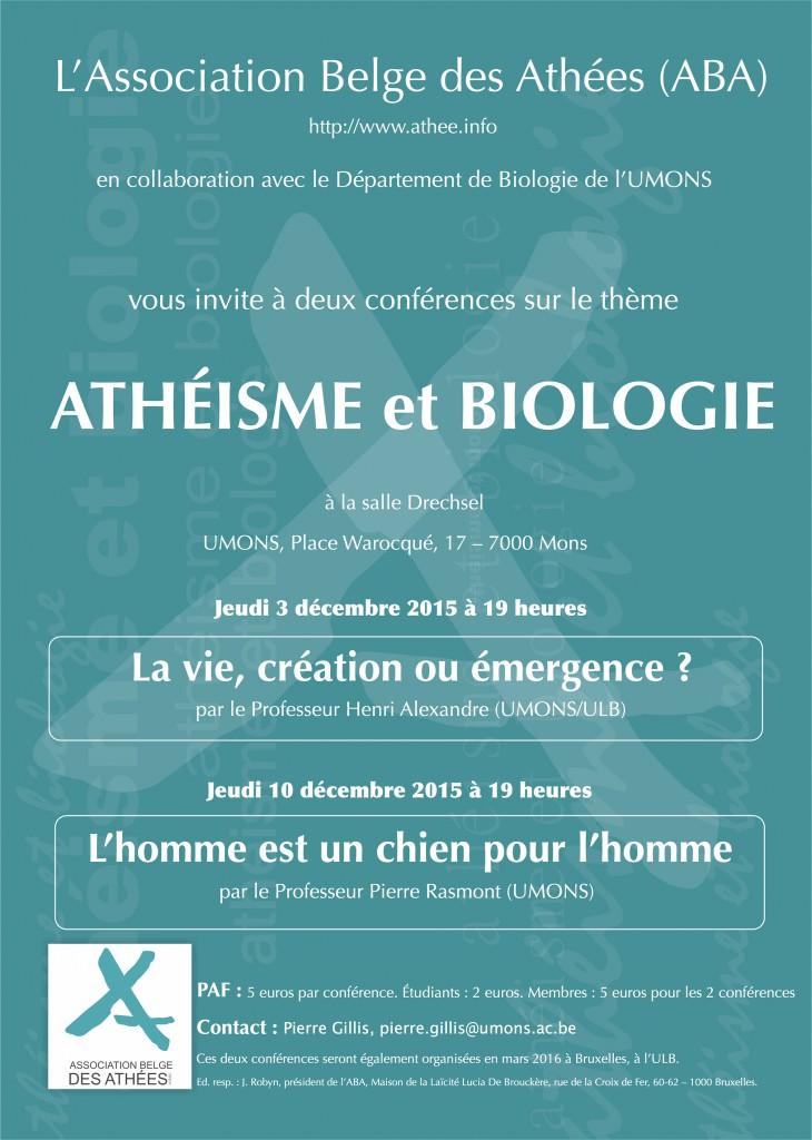 Atheisme et biologie pour le Net